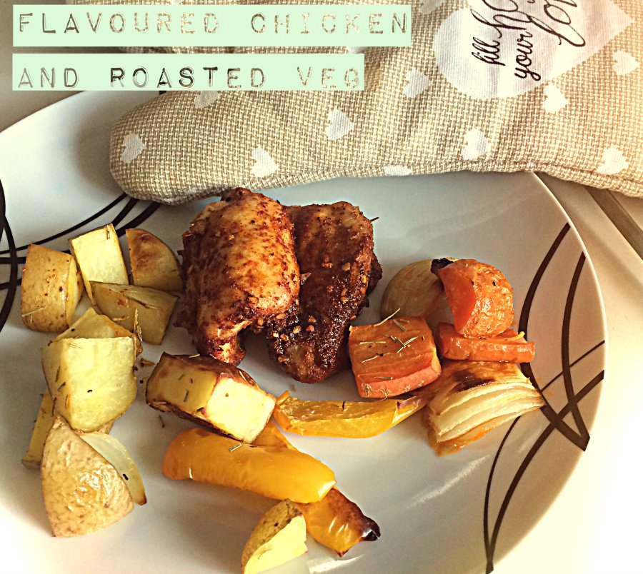 RECIPE: Paprika Chicken Thighs with Roasted Vegetables on the Side | #ThisGirlEats