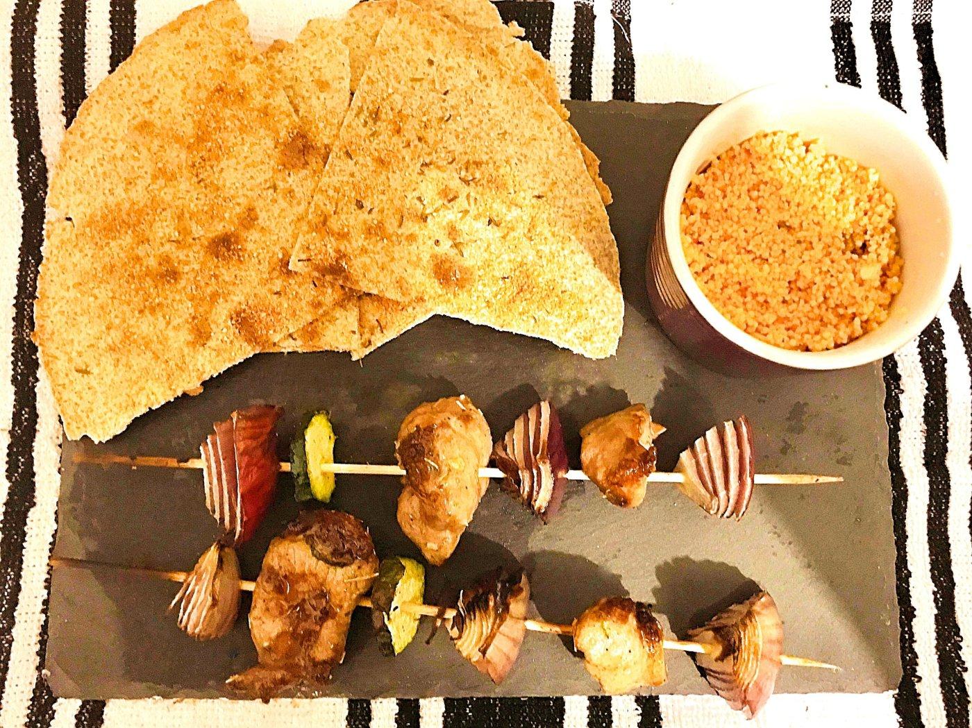 lamb kebab plate