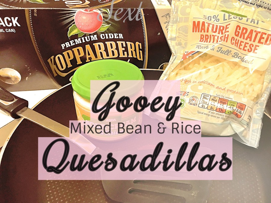 Gooey Mixed Bean & Rice Quesadillas