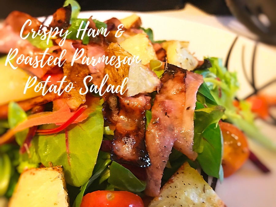 RECIPE: Crispy Ham & Roasted Parmesan Potato Salad | #ThisGirlEats
