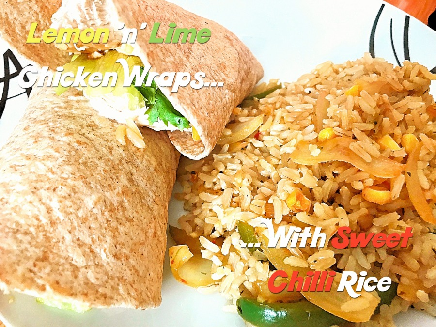 RECIPE: Lemon 'n' Lime Chicken Wraps with Sweet Chilli Rice | #ThisGirlEats