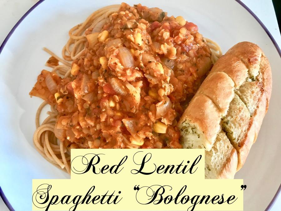 "RECIPE: Red Lentil Spaghetti ""Bolognese"" |#ThisGirlEats"