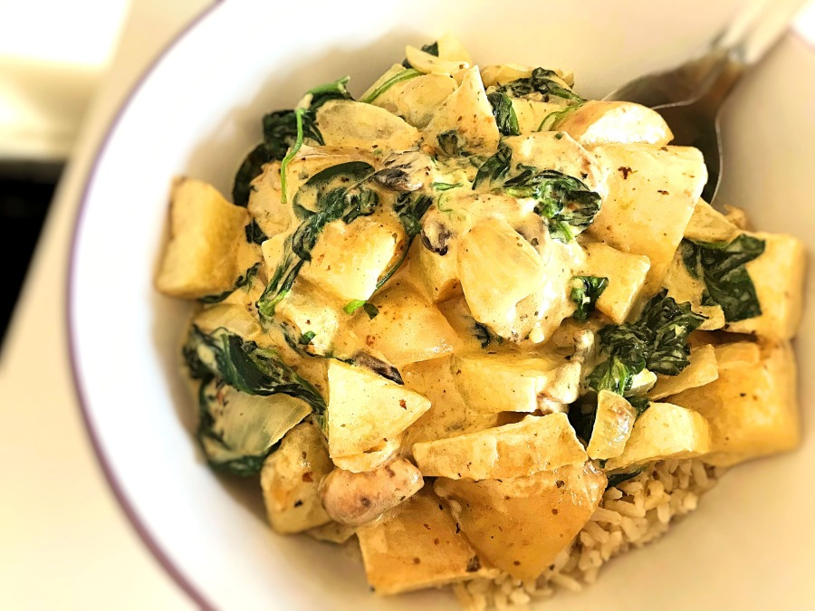 RECIPE: Chunky Vegetables & Rice in a Creamy Sauce |#ThisGirlEats