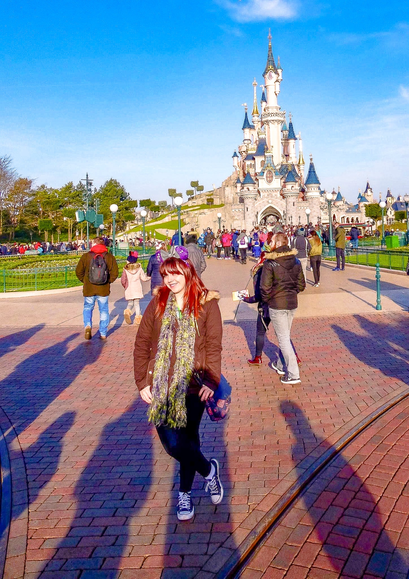 Me standing at the top of Main Street at Disneyland Paris Magic Kingdom 2017