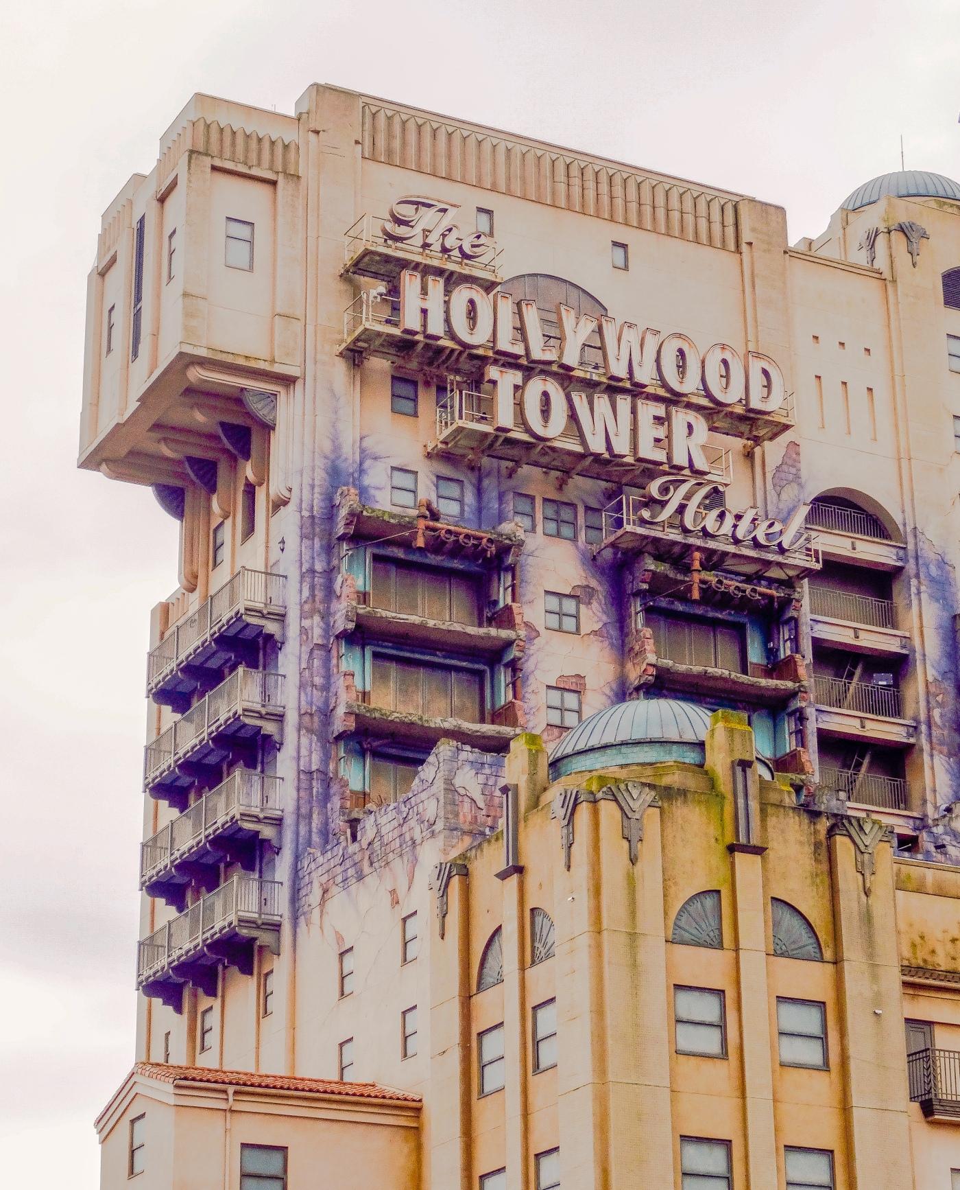 The Twilight Zone Tower of Terror in the Walt Disney Studios Park at Disneyland Paris