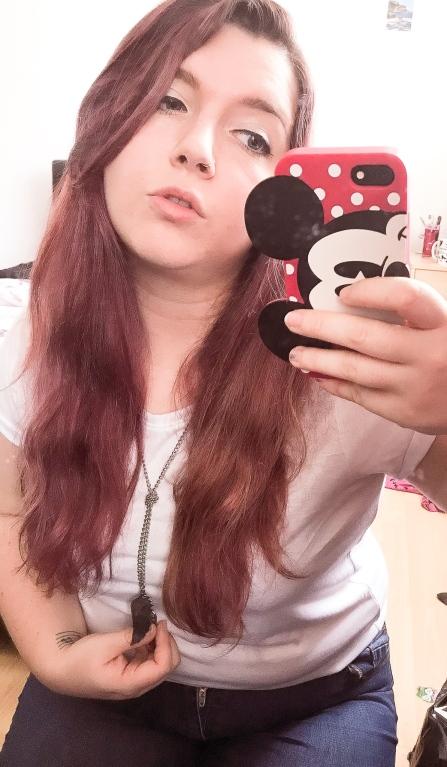 Shameless mirror selfie taken somewhere along my recent journey to loving myself.