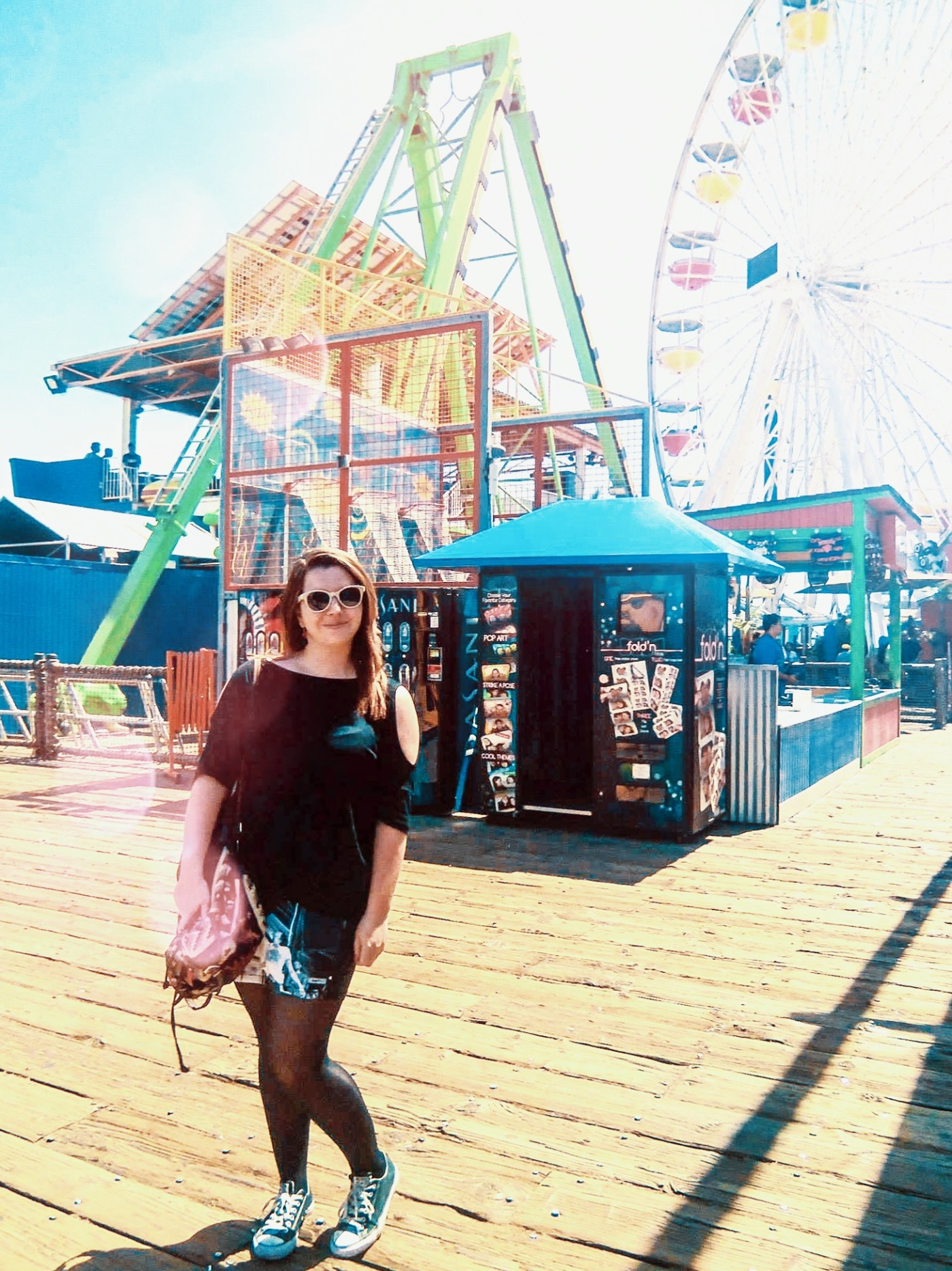 Standing alone on Santa Monica Pier
