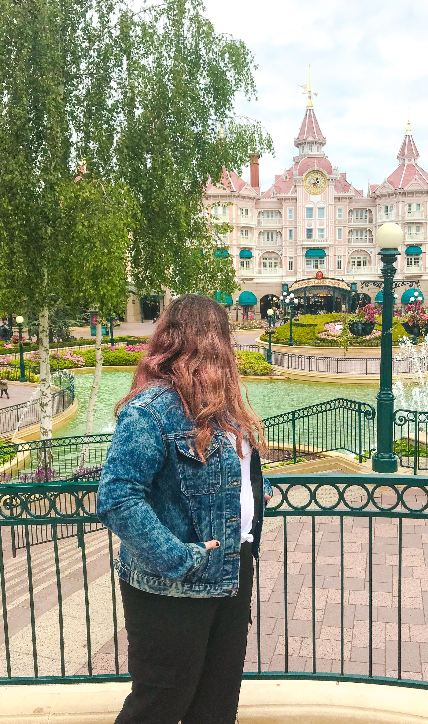 Standing alone at the entrance to Disneyland Paris