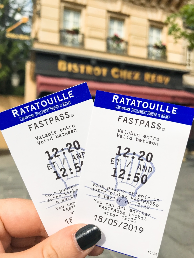 Fastpass tickets for Ratatouille: The Adventure