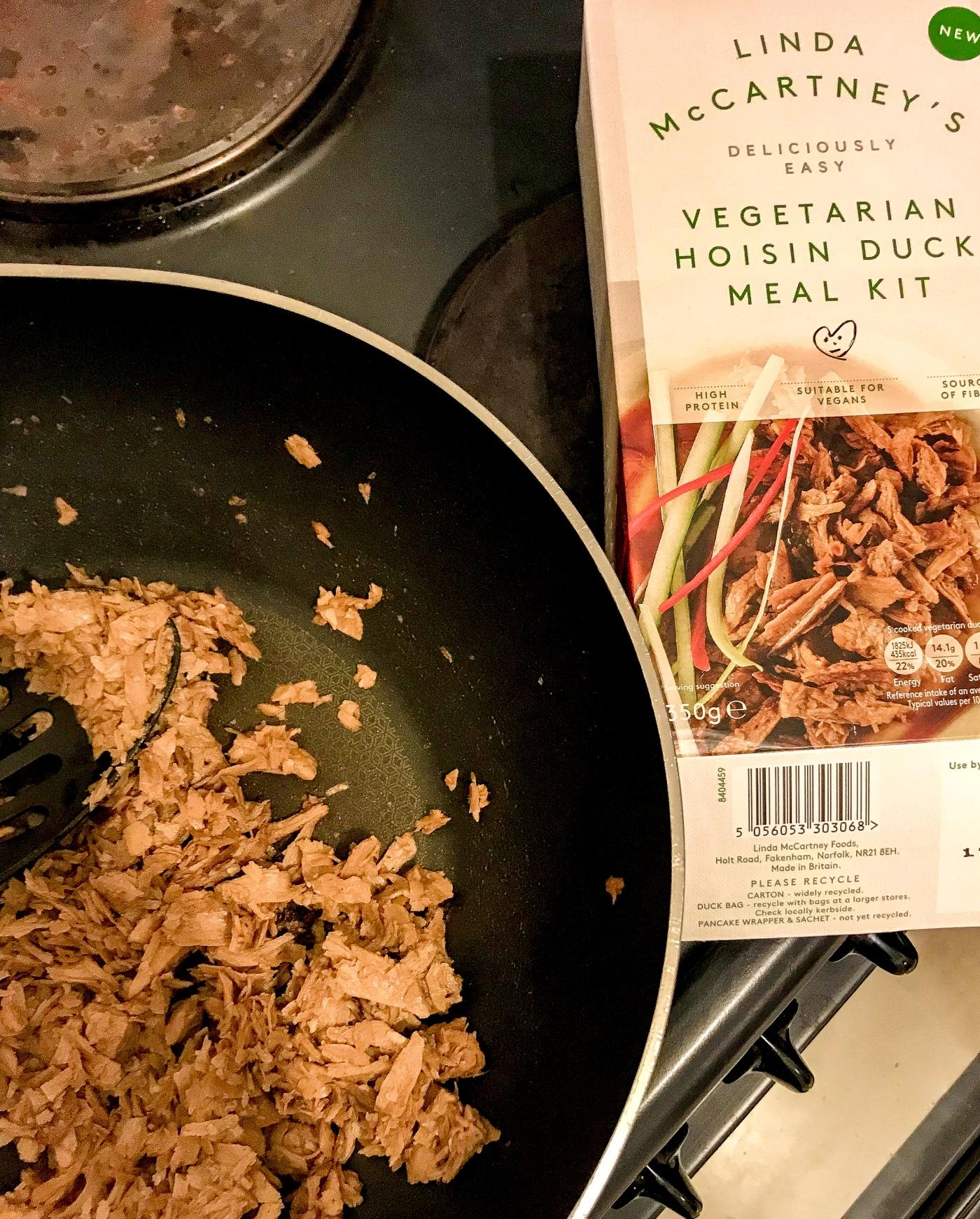 Linda McCartney's vegetarian hoisin duck meal kit