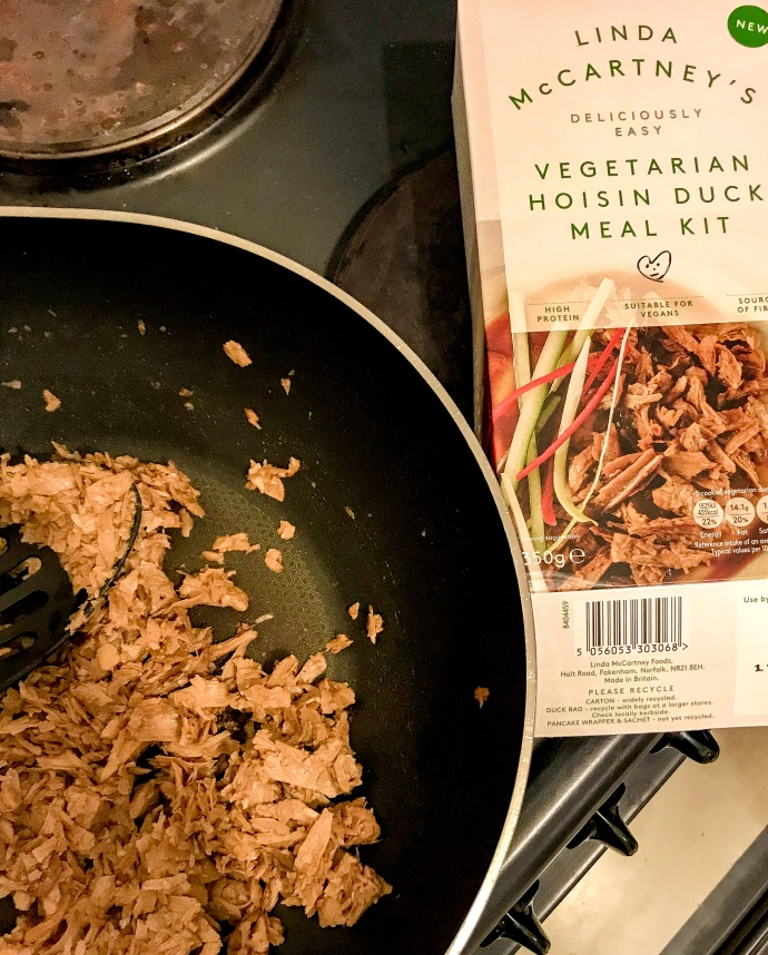 Linda McCartney's vegetarian hoisin duck meal kit