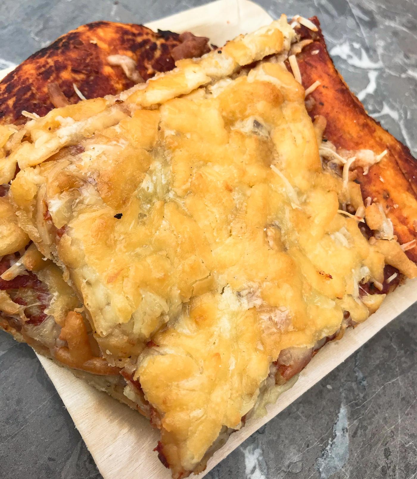 Three cheese pizza